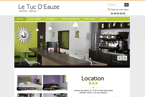 Le tuc d 39 eauze dax for Appart hotel dax